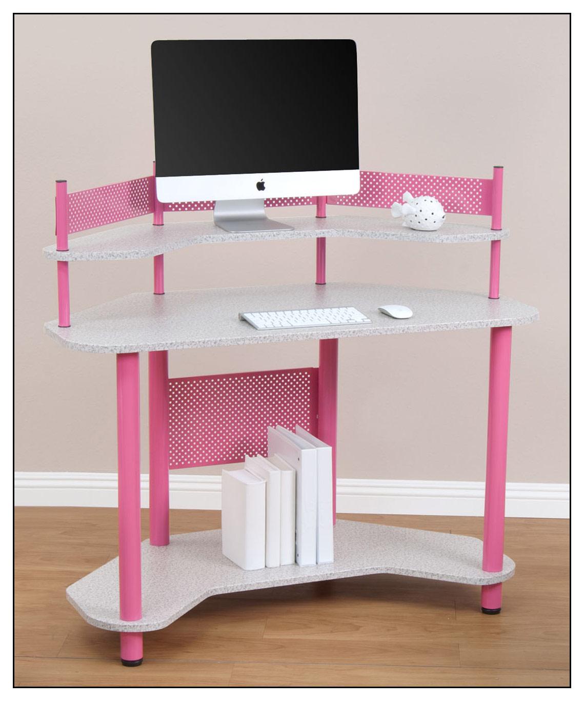 Calico Designs - Corner Computer Desk - Pink