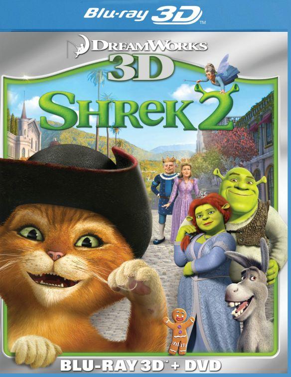 Shrek 2 3D [2 Discs] [3D] [Blu-ray/DVD] [Blu-ray/Blu-ray 3D/DVD] [2004] 3675126