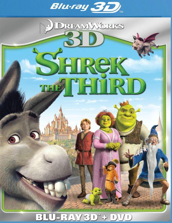 Shrek the Third 3D [2 Discs] [3D] [Blu-ray/DVD] [Blu-ray/Blu-ray 3D/DVD] [2007] 3675135