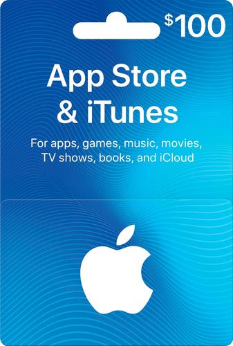 Apple - $100 App Store & iTunes Gift Card One card, millions of ways to enjoy it. Use for apps, games, music, movies, and iCloud