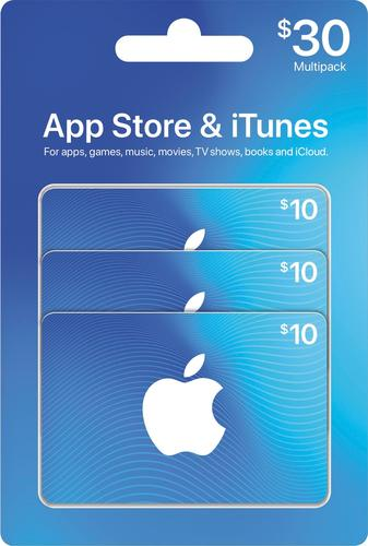 Apple - $30 App Store & iTunes Gift Cards multipack One card, millions of ways to enjoy it. Use for apps, games, music, movies, and iCloud.