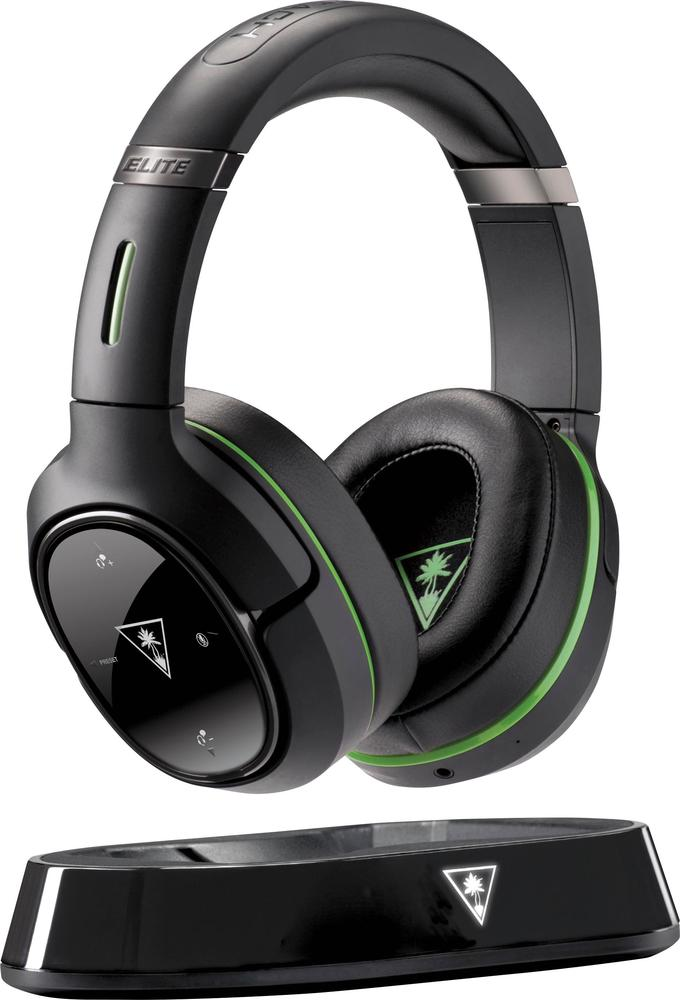 Turtle Beach TBS-2390-01 Elite 800X Wireless DTS 7.1-Channel Surround Sound Gaming Headset for Xbox One Black/Green