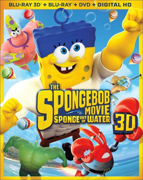 The SpongeBob Movie: Sponge out of Water [3 Discs] [Includes Digital Copy] [3D] [Blu-ray/DVD] [Blu-ray/Blu-ray 3D/DVD] [2015] 3705023