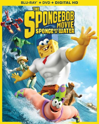 The SpongeBob Movie: Sponge out of Water [2 Discs] [Includes Digital Copy] [Blu-ray/DVD] [2015] 3706031