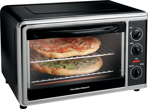 Hamilton Beach - Countertop Convection Oven - Black/Silver 3726181