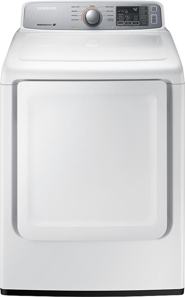 Samsung 7.4 Cu. Ft. 9-Cycle Gas Dryer White DV45H7000GW