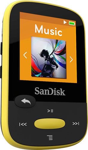 SanDisk SDMX24-004G-A46Y Clip Sport 4GB MP3 Player Yellow