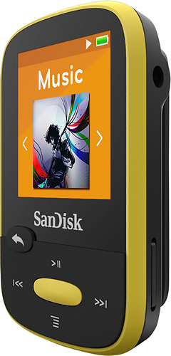 SanDisk SDMX24-008G-A46Y Clip Sport 8GB MP3 Player Yellow