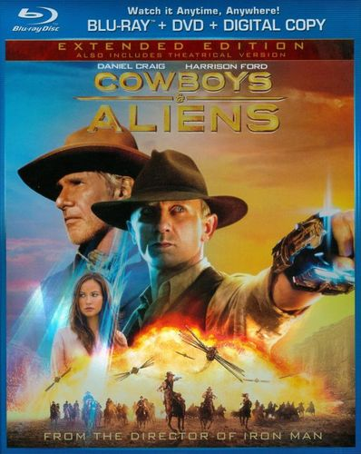 Cowboys & Aliens [Extended Edition] [Rated/Unrated] [2 Discs] [Includes Digital Copy] [Blu-ray/DVD] [2011] 3869536