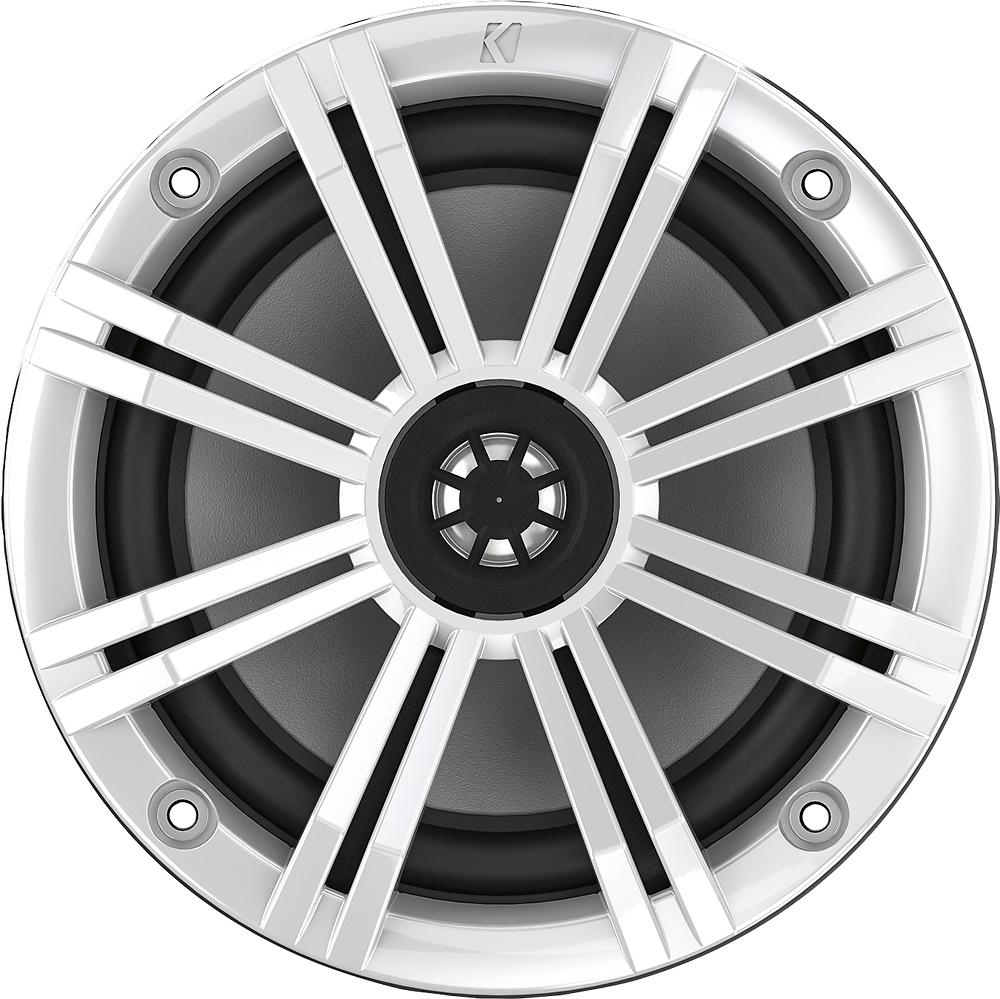 "KICKER - KM Series 6.5"" 2-Way Marine Speakers with Polypropylene Cones (Pair) - Charcoal/White"