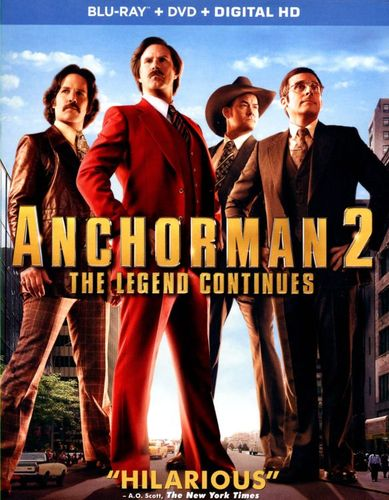 Anchorman 2: The Legend Continues [2 Discs] [Includes Digital Copy] [Blu-ray/DVD] [2013] 3921123