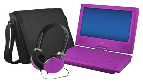 """Ematic - 9"""" Portable DVD Player with Swivel Screen - Purple"""