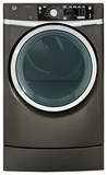 GE GFDR485EFMC RightHeight 8.3 Cu. Ft. 12-Cycle Electric Dryer with Steam Metallic Carbon