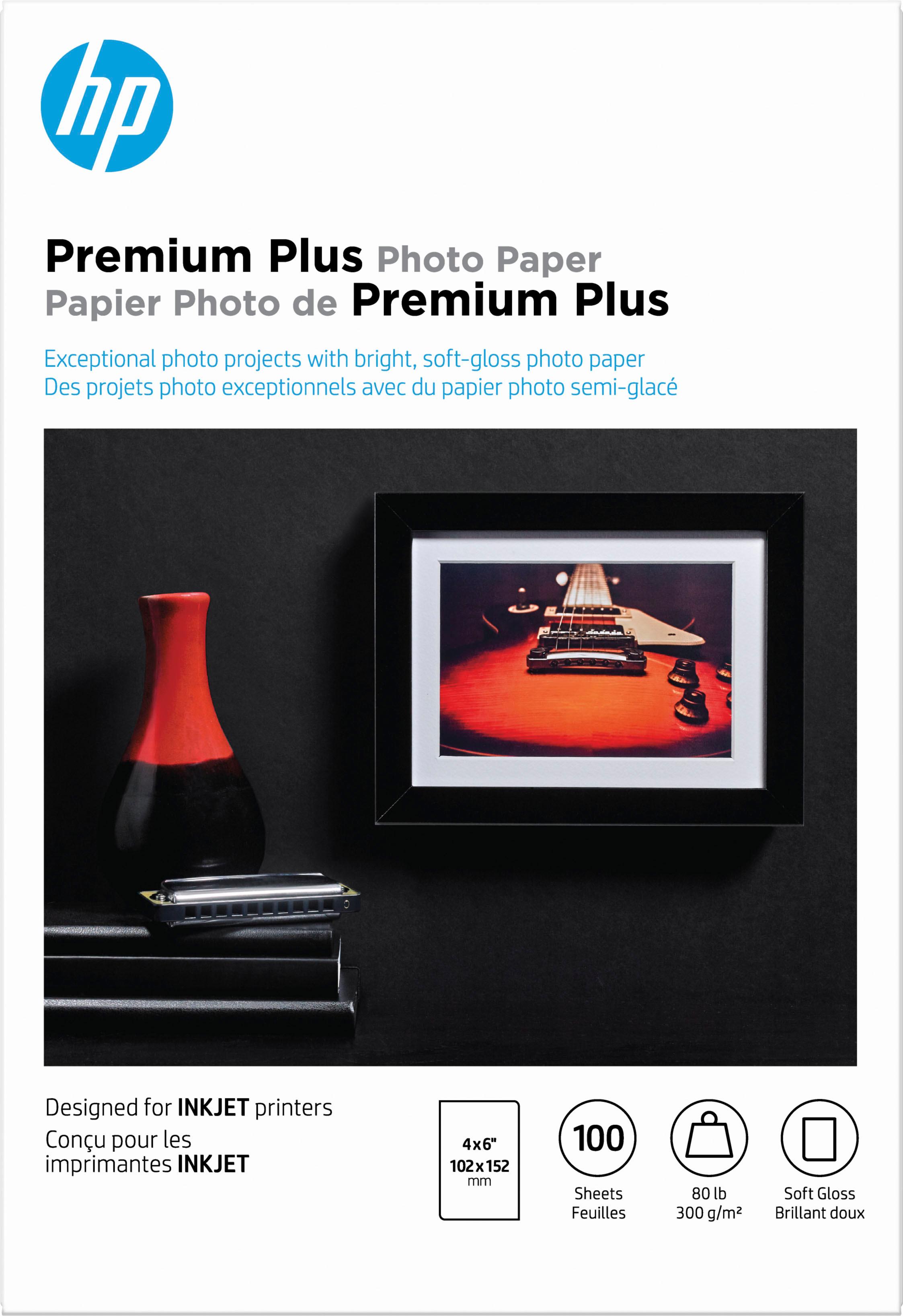 HP Premium Plus Soft Gloss Photo Paper White CR666A