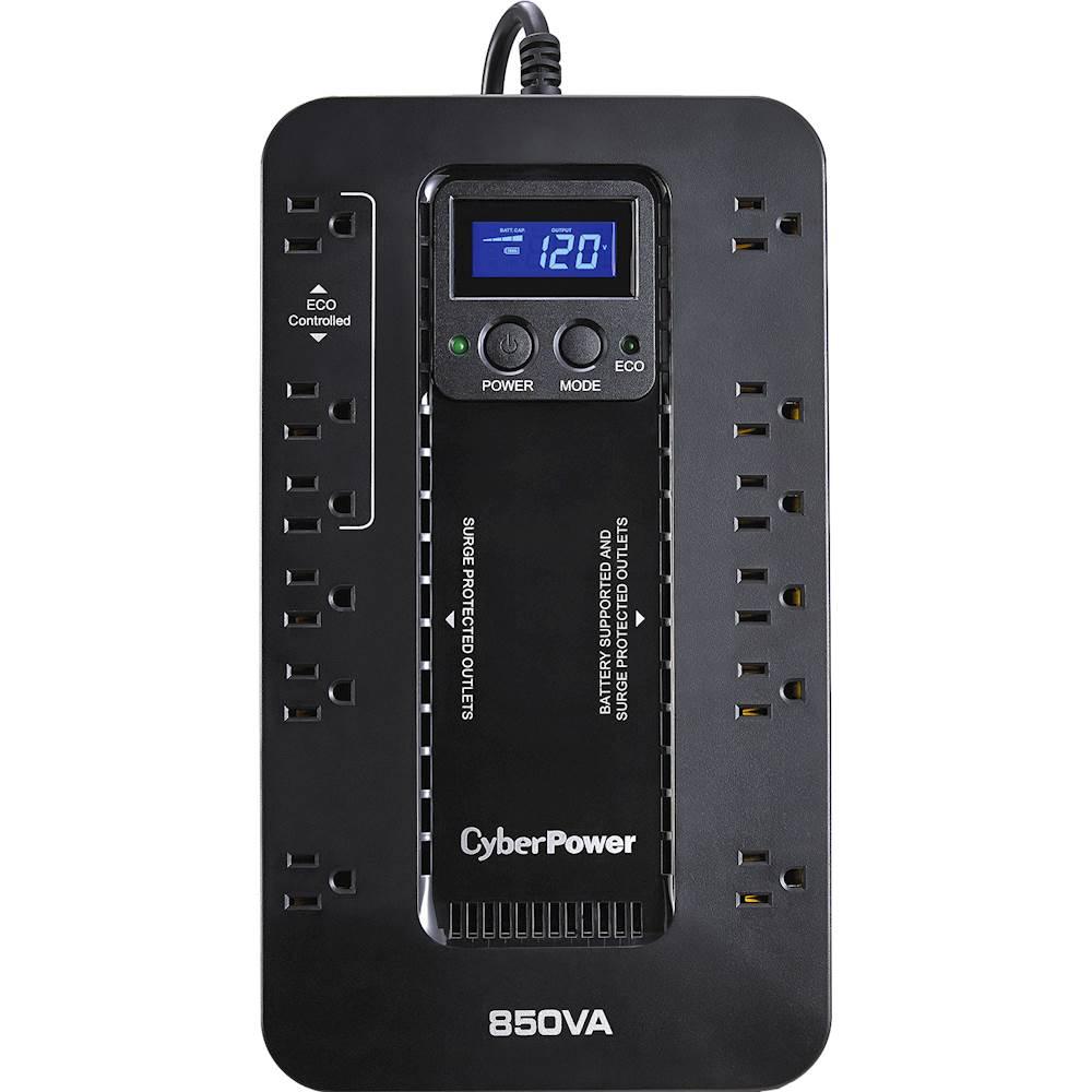 CyberPower EC850LCD Ecologic 850VA/510W Energy Efficient Desktop ECO UPS Black