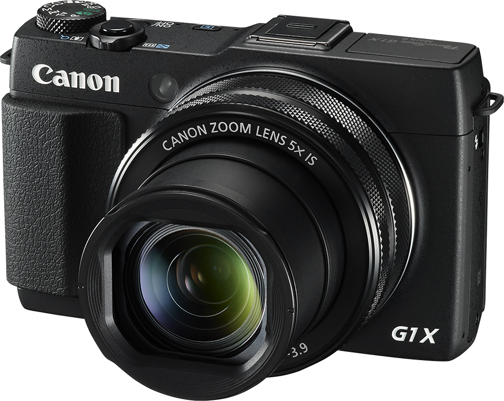 Canon 9167B001 PowerShot G1 X Mark II 12.8-Megapixel Digital Camera Black