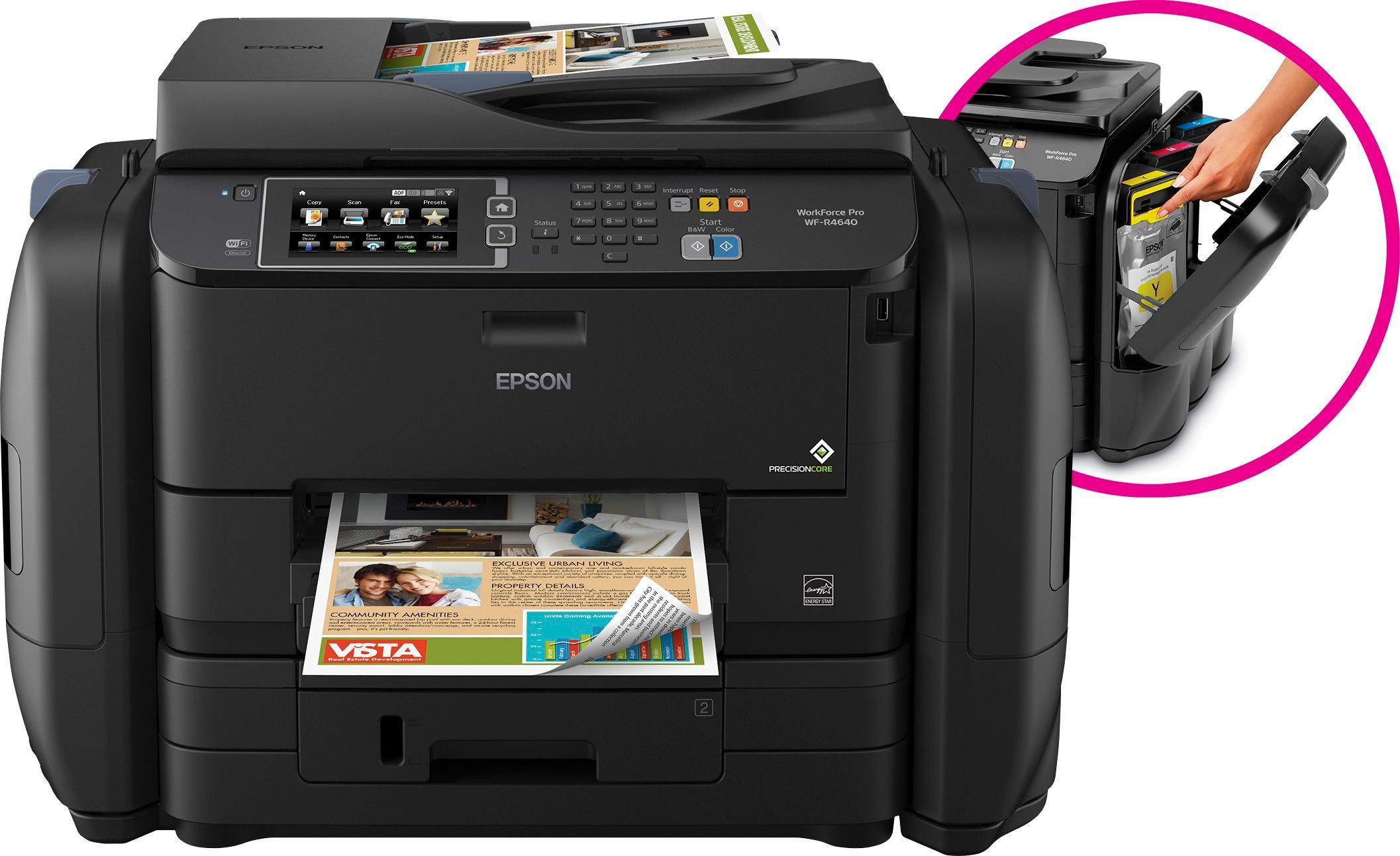 Epson WorkForce Pro WF-R4640 EcoTank Wireless All-In-One Printer Black C11CE69201