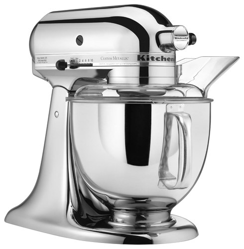 KitchenAid KSM152PSCR Custom Metallic Tilt-Head Stand Mixer Chrome