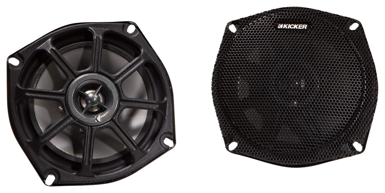 "KICKER - 5-1/4"" 100-Watt Passive Speakers (Pair) - Black 4222510"