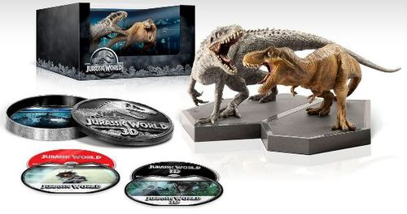 Jurassic World [Limited Edition Giftset] [3D] [Includes Digital Copy] [Blu-ray/DVD] [Blu-ray/Blu-ray 3D/DVD] [2015] 4224703
