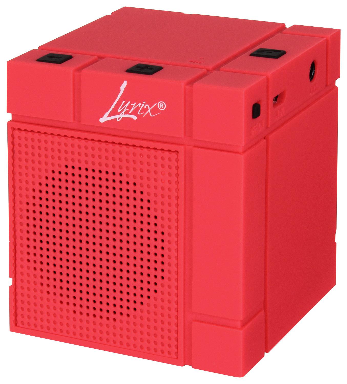 Lyrix 09871-PG MIXX Portable Bluetooth Speaker Red