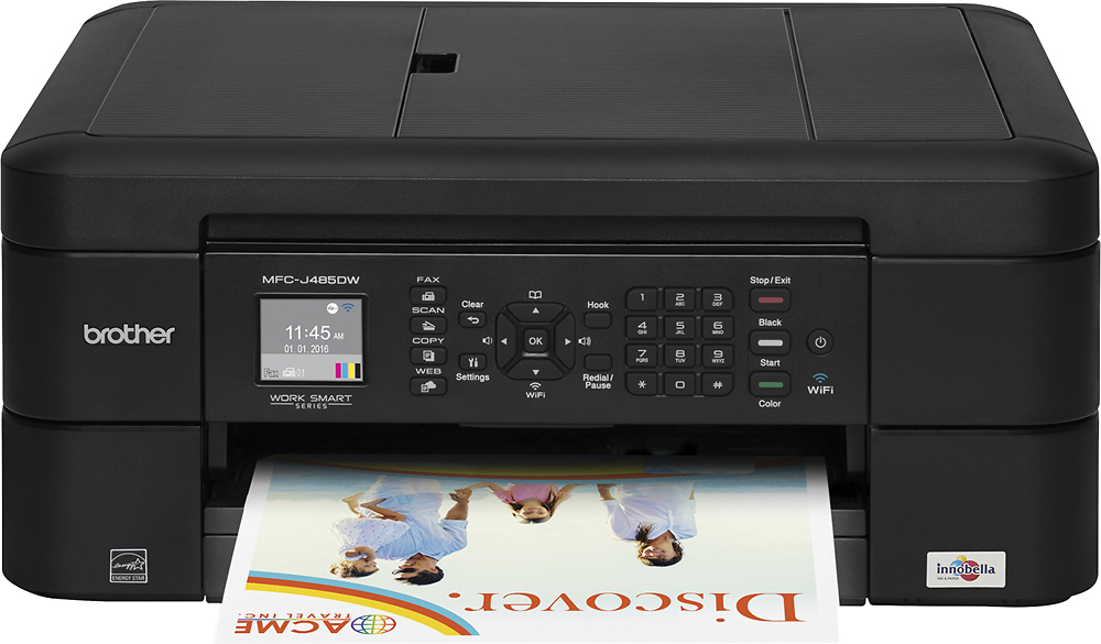 Brother Wireless All-In-One Printer Black MFC-J485DW