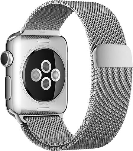Apple - Milanese Loop for Apple Watch™ 38mm - Stainless Steel