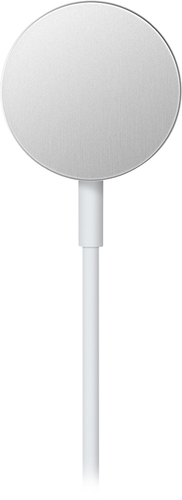 Apple - Apple Watch™ Magnetic Charging Cable (1 m) - White Charging your Apple Watch is utterly effortless with an Apple solution that combines MagSafe technology with inductive charging.