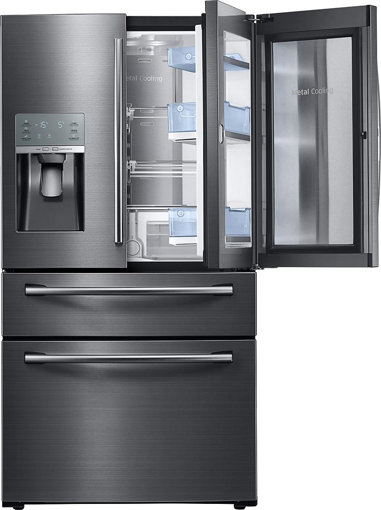 Samsung - Showcase 27.8 Cu. Ft. 4-Door French Door Refrigerator - Black Stainless