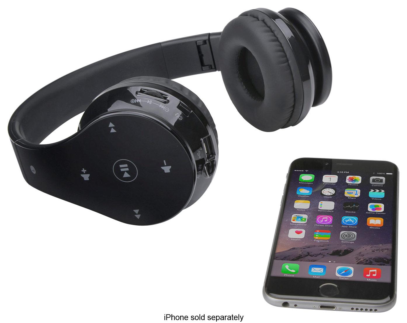 Memorex Over-the-Ear Wireless Headphones Black MHBT0245BK