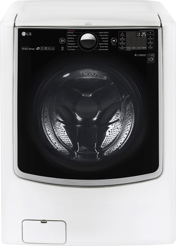 LG - 5.2 Cu. Ft. 14-Cycle High-Efficiency Front-Loading Washer with Steam and Wi-Fi Connectivity - White