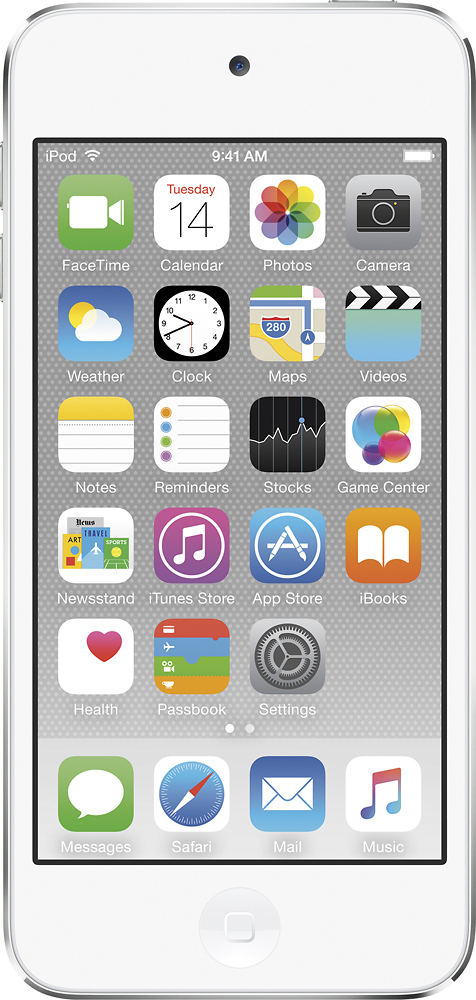 Apple iPod touch® 32GB MP3 Player (6th Generation Latest Model) Silver MKHX2LL/A