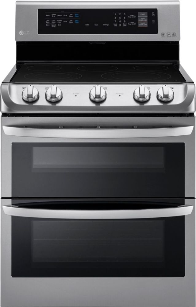 LG 7.3 Cu. Ft. Self-Cleaning Freestanding Double Oven Electric Convection Range Stainless steel LDE4413ST