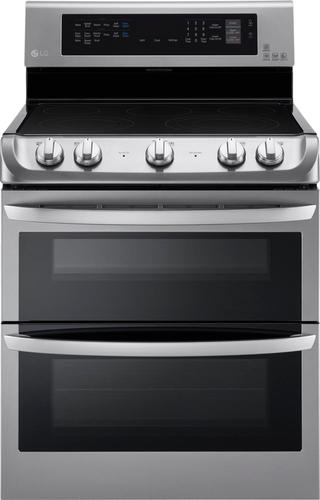 LG - 7.3 Cu. Ft. Electric Self-Cleaning Freestanding Double Oven Range with ProBake Convection - Stainless steel