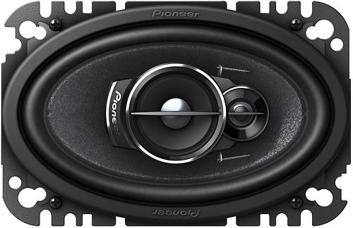 "Pioneer - 4"" x 6"" 3-Way Car Speakers with Mica Matrix Cones (Pair) - Black"