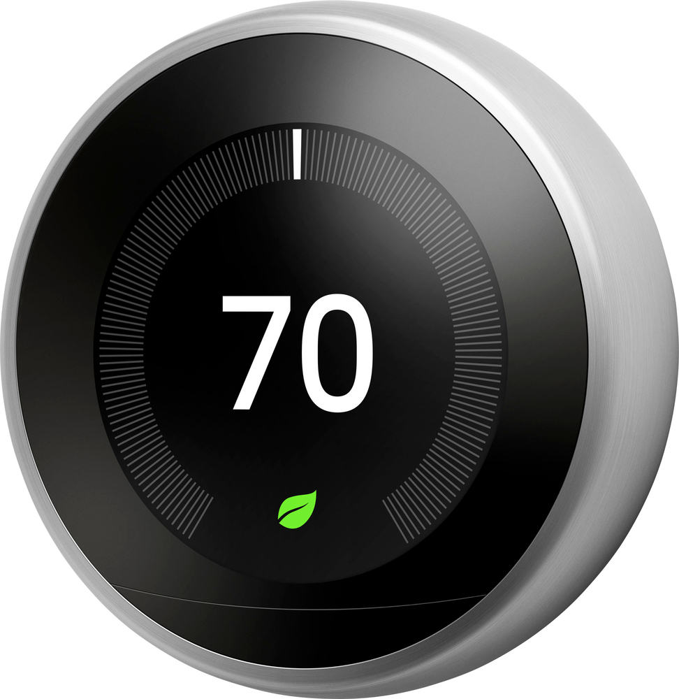 Nest - Learning Thermostat - 3rd Generation - Stainless Steel