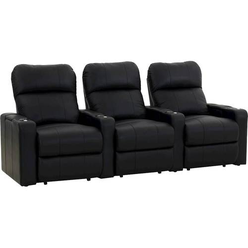 Octane Seating - Turbo XL700 Straight 3-Seat Power Recline Home Theater Seating - Black