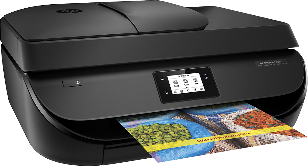 HP - OfficeJet 4650 Wireless All-In-One Instant Ink Ready Printer - Black