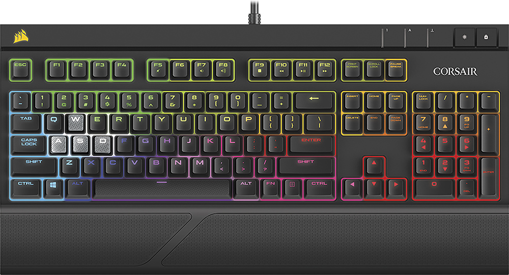 Corsair STRAFE RGB SILENT MX Gaming Keyboard Black