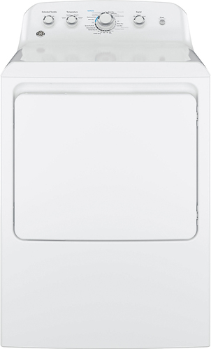 GE - 7.2 Cu. Ft. 4-Cycle Electric Dryer - White Electromechanical controls; 4 temperature settings; aluminized alloy drum
