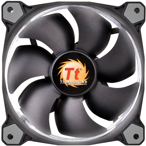 Thermaltake Riing 12 White LED 120mm Computer PC Case Fan - CL-F038-PL12WT-A