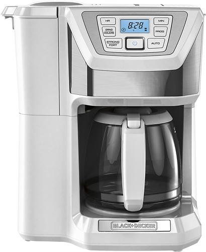 Black & Decker - Mill & Brew 12-Cup Coffeemaker - White/Silver 4413513