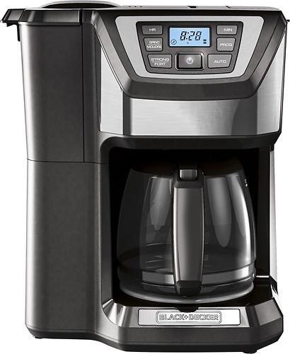 Black & Decker - Mill & Brew 12-Cup Coffeemaker - Gray/Silver 4413514