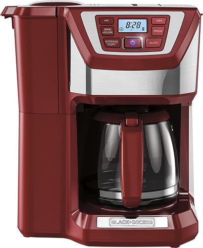 Black & Decker - Mill & Brew 12-Cup Coffeemaker - Red/Silver 4413523