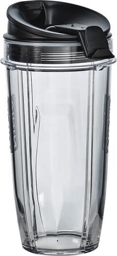 Ninja - 24-Oz. Tritan Nutri Ninja Cups with Sip & Seal Lids (2-Pack) - Black/Clear 4413710