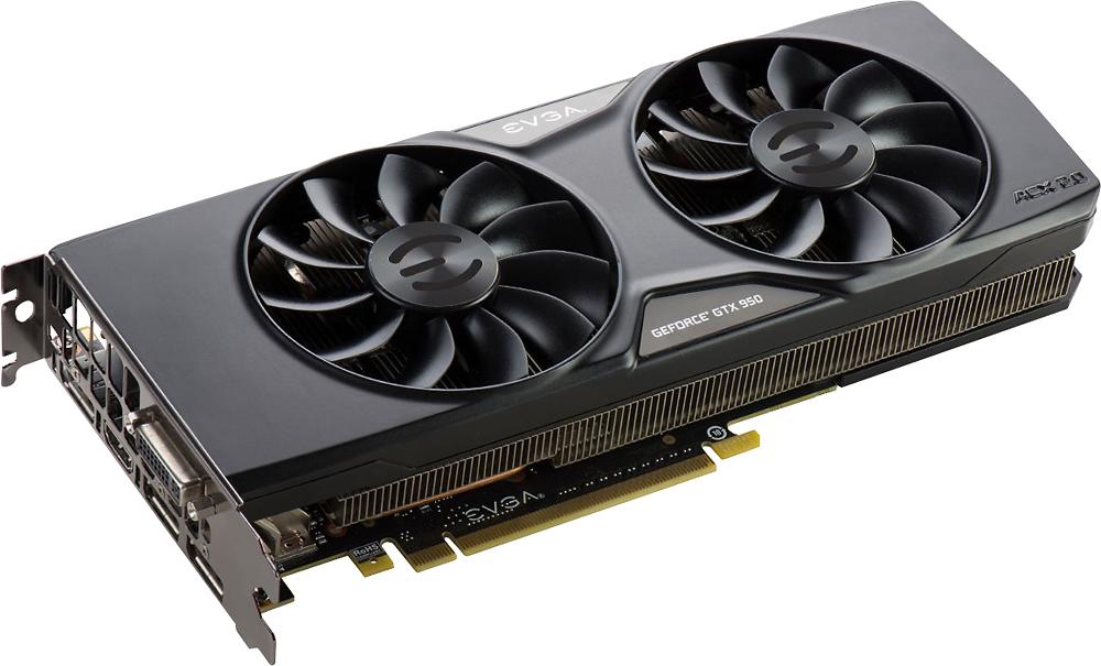 EVGA NVIDIA GeForce GTX 950 2GB GDDR5 PCI Express 3.0 Graphics Card Black 02G-P4-2959-KB