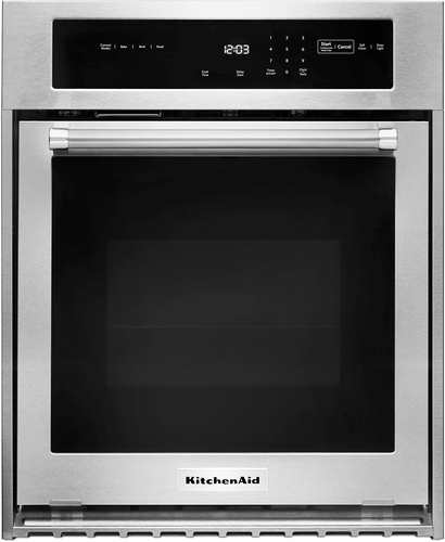 KitchenAid KOSC504ESS - Oven - built-in - niche - width: 22.6 in - depth: 23.3 in - height: 27.8 in - with self-cleaning - stainless steel
