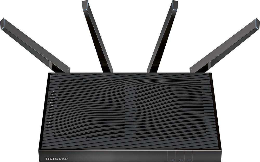 NETGEAR - Nighthawk X8 AC5300 Tri-Band Quad Stream Wi-Fi Router - Black