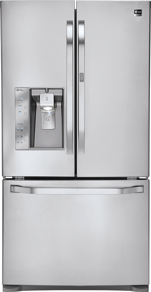 LG Studio 24 Cu. Ft. French Door Counter-Depth Refrigerator Stainless Steel LSFD2491ST