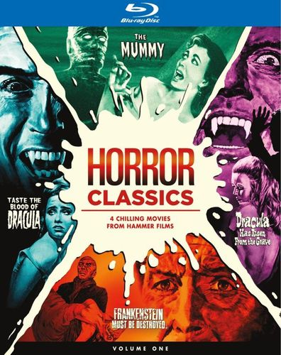 Horror Classics: 4 Chilling Films from Hammer Films [4 Discs] [ Blu-ray] [Blu-ray] 4489307